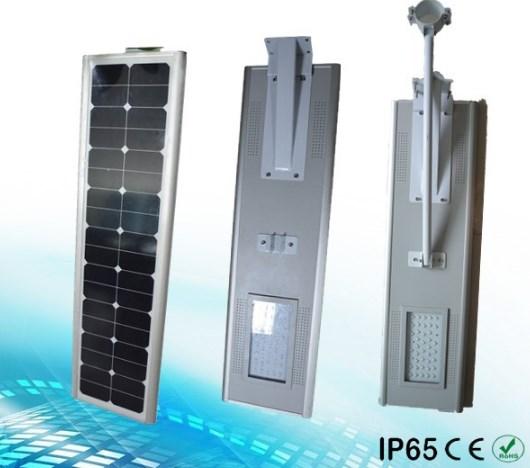 Lampu jalan all in one tenaga surya 70 watt